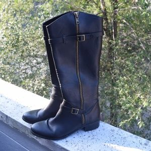 Charles by Charles David Black Riding Boots Size 8